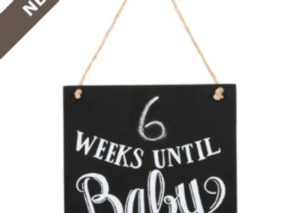 baby count down sign