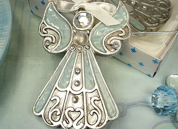 D1414 - Angel Ornament Blue Epoxy