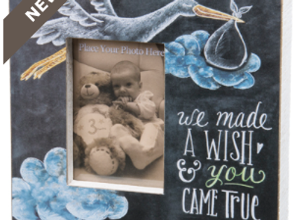 We made a wish & you came true wooden frame