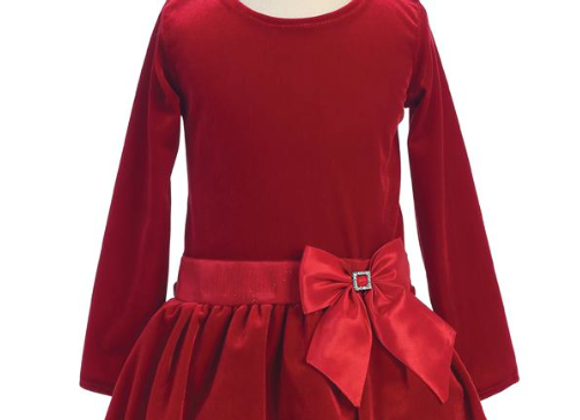 Sugar Plum Holiday Bubble Dress - Red