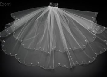 Christie Helene Designer Veil - V1055B  IN STOCK