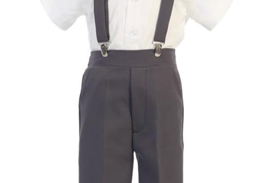 Toddler Suspender Pant Set w/ Hat - G825