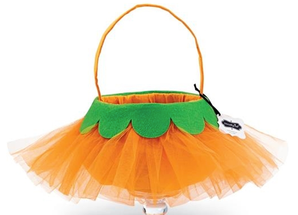 Mud Pie Tulle Pumpkin Candy Bag