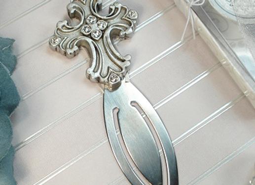 4354 - Antique Silver design cross bookmark