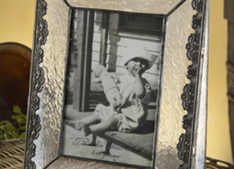 Vintage glass frame - Vertical