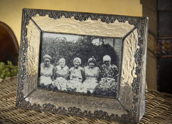 Vintage glass frame - horizontal