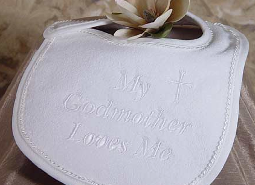 My Godmother Loves Me Bib -      AGMXB1