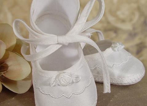 Girls Silk Dupioni Shoe
