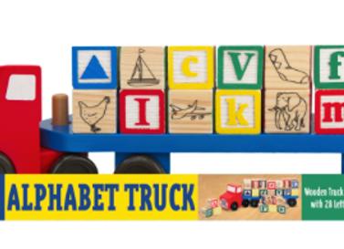 MELISSA & DOUG - Alphabet Blocks Wooden Truck