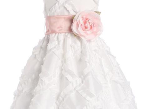 Taffeta ribbon dress Flower Girl Dress