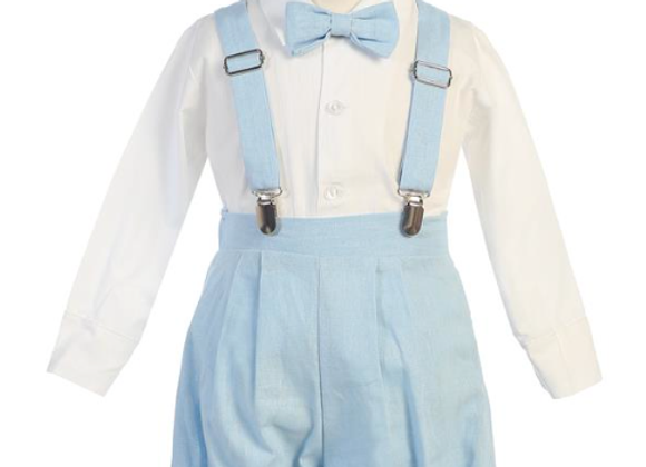 Suspender Knickers - Blue