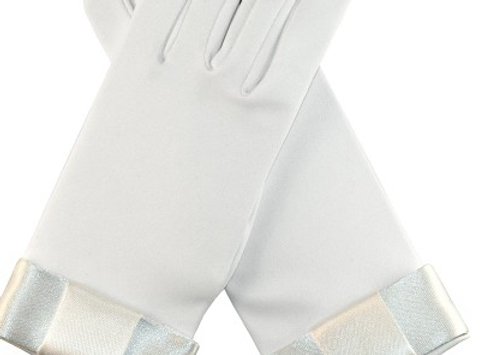 Andrea's Beau -Communion gloves (bow)     IN STOCK