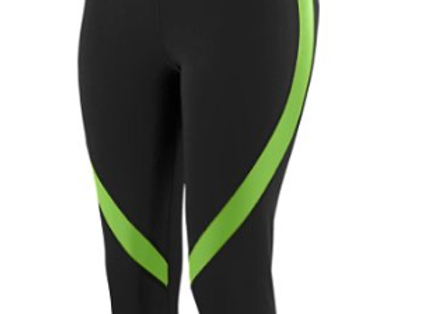 GIRLS COLOR BLOCK CAPRI  - Black/Lime