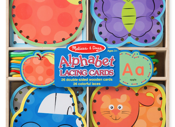 MELISSA & DOUG Alphabet Lacing Cards 3+