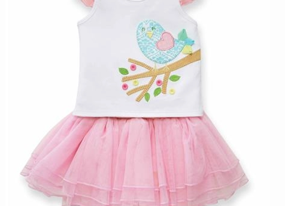 MUD- PIE Little Chick Skirt Set