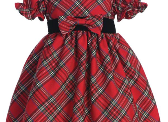 Toddler Red Plaid Dress