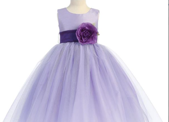 Infant Sweet Tulle Dress - Lilac
