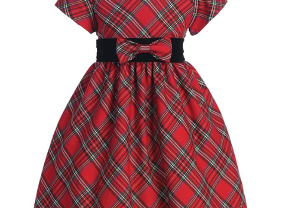 Girls Red Plaid dress