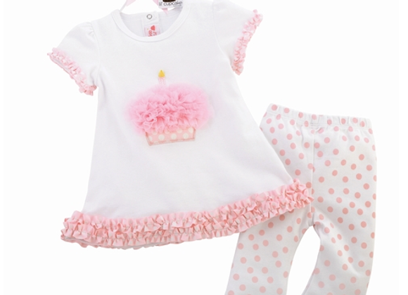 MUDPIE - Cupcake Tunic & Leggings Set