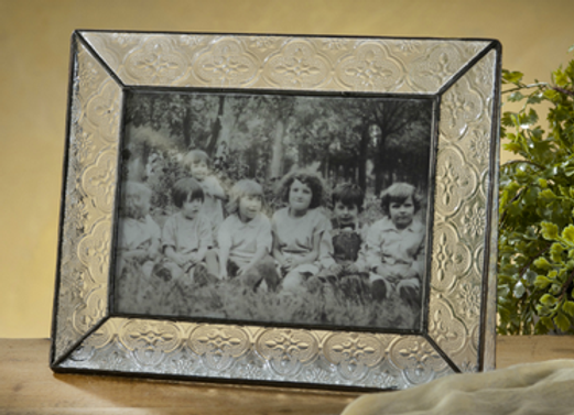 Vintage glass frame - horizontal