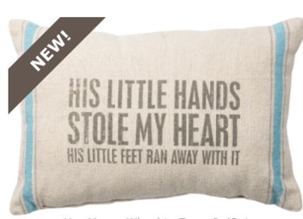 #27434 - Pillow - Little Hands BLU