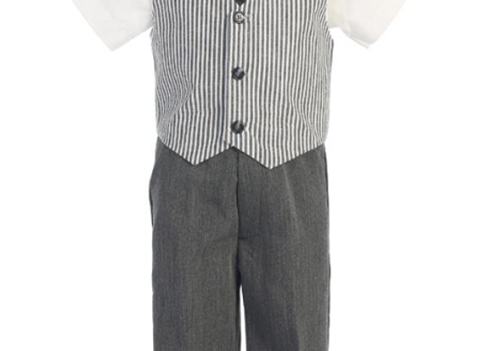 Seersucker pants set - G824 grey