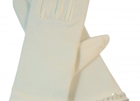 Andrea's Beau - Communion gloves (PEARL)  IN STOCK