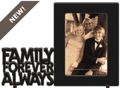 #26582 - Word Frame - Family BLK