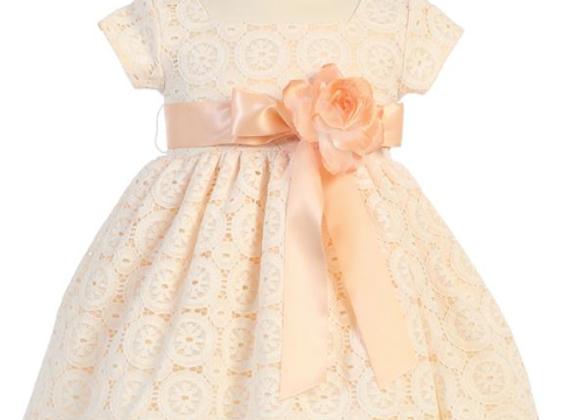 Lace Dress - Peach