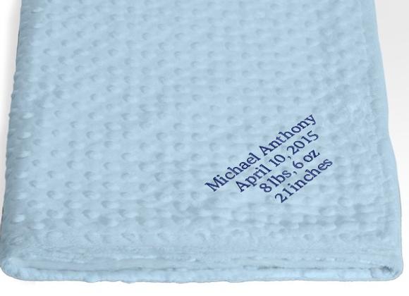 Custom Receiving Blanket - Blue
