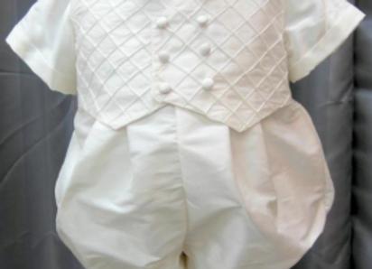 New born silk shantung romper