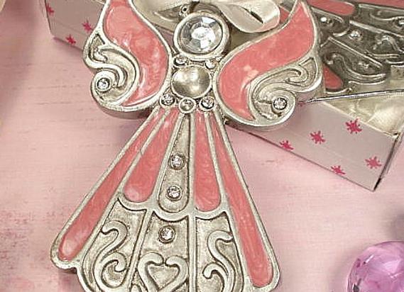 D1410 - Angel Ornament Pink Epoxy