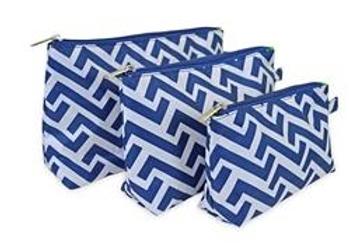 Nautical Tide 3 Piece Cosmetic Bag