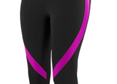 GIRLS COLOR BLOCK CAPRI  - Black/Power Pink