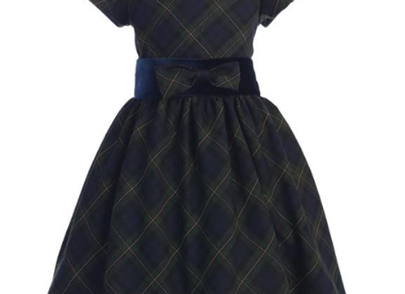 Girls Green Plaid dress