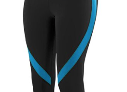 GIRLS COLOR BLOCK CAPRI - Black/Power Blue