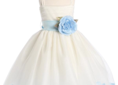 Tulle & Petals (ivory) Flower Girl Dress