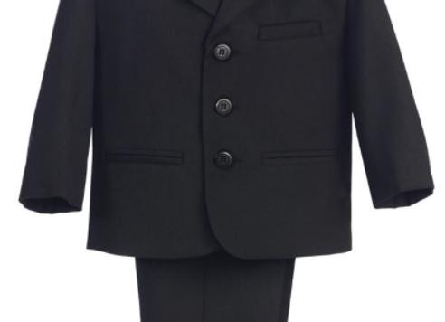 Boys Black 3 Button Suit Set - 3710