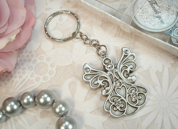 4322 - Antique Silver design angel keychain