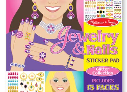 MELISSA & DOUG Jewelry & Nails Glitter Stickers