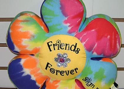 BJ151 Tie dye Flower Autograph Pillow