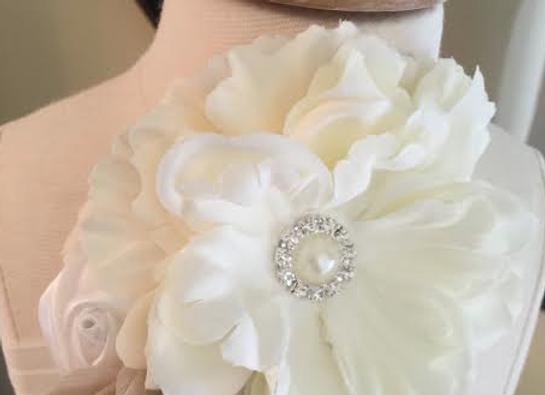 Victoria Headband - ivory/blush