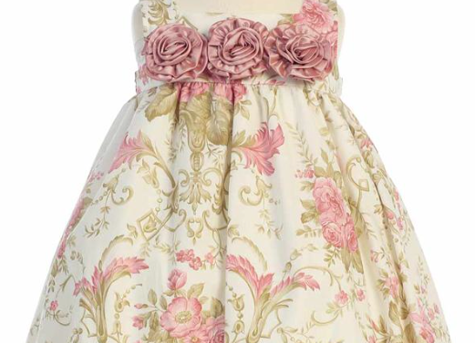 Infant Cotton Floral Easter dress - M652 in stock