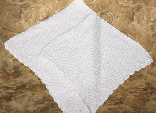 Cotton popcorn style blanket - CKPSHAWL