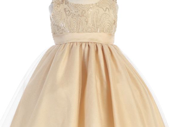 Infant Gold Tulle Holiday Dress