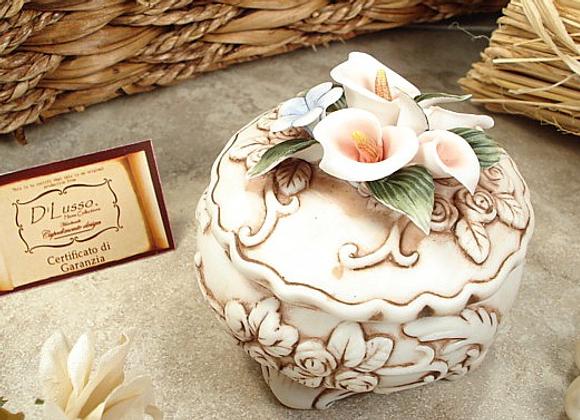 V25 - Round Calli Capo Trinket Box