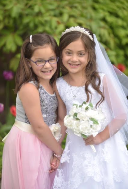 A sweet moment with her sister