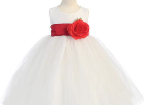 infant Sweet Tulle dress - white flower girl dress