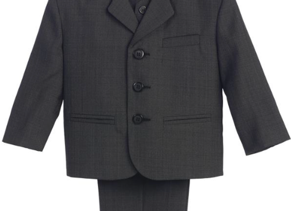 Boys 3 Button Suit Set- 3710 Dark Grey