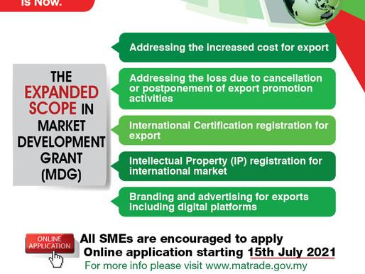 MATRADE New Market Development Grant (MDG) Initiatives
